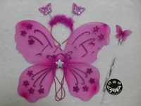 Free Shipping Wholesale 25sets/lot     Pretty Butterfly  Wings Magic Wand Headband Set Angel