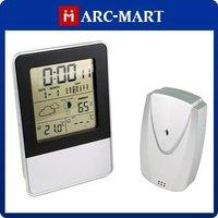Digital LCD Indoor/Outdoor RF Wireless Weather Station S3338B Calendar Alarm Clock for Home Garden#OT309