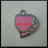 90 pcs/lot Free shipping enamel charm(heart)