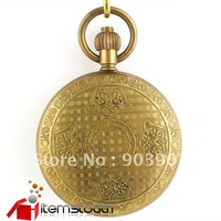 Copper antique hand winding mens pocketwatch cover new iw1004