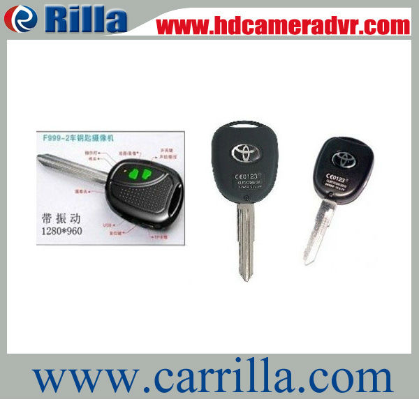 Free Shipping Hot Sale with 4GB TF card HD 1280x960 car key camera (DVC-0001)(China (Mainland))