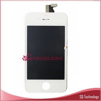 10pcs/lot LCD Screen for iPhone 4 4G with Digitizer full set white colour free shipping by DHL EMS