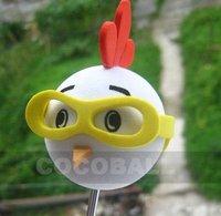 Hot Sale eva foam aerial antenna ball topper yellow glasses chicken