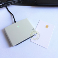 Freeshipping  ACR38U SPC Smart IC Card Reader&Writer  USB 2.0 Full Speed with 2 PCS FM4442 Chip Cards+CD Software