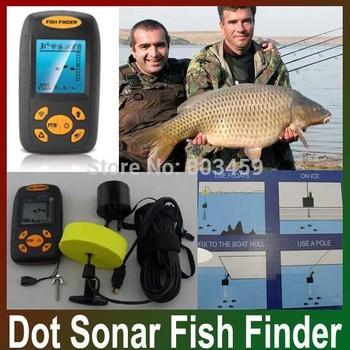 Free shipping Fishfinder,fishing equipment,Top Portable Dot Matrix Sonar Sensor To Brazil Russia Fish Finder Alarm Transducer