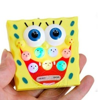 Best selling~10pcs/lots four in one Colorful spongebob whack-a-mole game toy