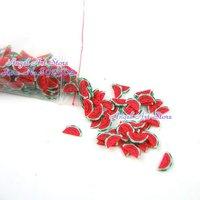 Free Shipping - Sliced Ceramic Nail Art Canes 3000pcs/lot Mixed Fruits for Nail Art Decoration