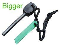 (Free Shipping)  20pcs/lot Survival Flint Magnesium Striker Fire Starter Stick Rod  large Size:10.6*0.8cm