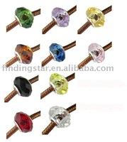 FREE SHIPPING 100 PCS MIXED COLOUR CRYSTAL EUROPEAN GLASS BEADS M19200