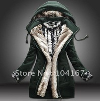 Hot!  NEW Thick cotton-padded clothes women winter fashion jacket