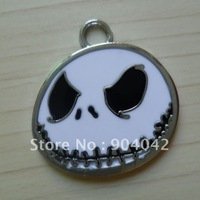 100 pcs/lot Nightmare Before Christmas Jack alloy enamel charms Free shipping wholesale