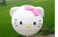 Wholesale EVA pencil aerial antenna ball topper  nice pink Kitty