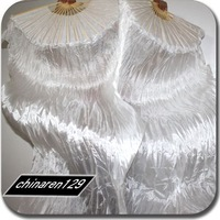 10pcs/lot brand new dance WHITE fan veil/belly dance fan veil/silk fan veil/belly dance accessory