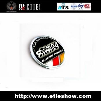 MUGEN free decals sticker\3d car logo sticker Emblem/printing/surface protective film/metal base / 3 M back glue / 56 mm