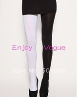 17 color combination, 2013 harajuku style women fashion new designer two tones comic jester opaque velvet seamless pantyhose