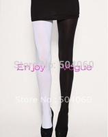 17 color combination, 2013 harajuku style women fashion new designer two tones comic jester opaque velvet seamless pantyhose