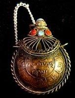 Tibet Coin Bottle Opium Snuff Perfume Pendant  free shipping