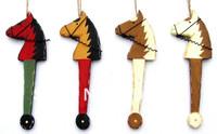 christmas ornament-christmas decorations-wood horse hanger-,3sizeX1=3pcs/lot,12sets/lot.-&free shipping