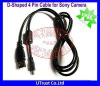 Free shipping 5pcs/lot New D Shaped 4 Pin USB Digital Camera Data Cable for Sony Cameras DSC-S30 S50 S70 F505 F505V MVC-CD1000