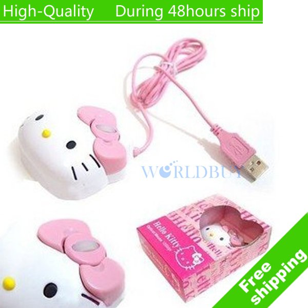 High Quality  Mice PC Laptop USB Cute cat Optical 1200dpi Mouse Free shipping UPS EMS DHL
