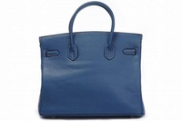 Free Shipping Middle Blue color litchi line top sheepskin women's tote bag/ handbag,fashion ladies' handbag