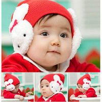 Rabbit  Ear style/Infant&Toddler's cap/Bunny Baby hat Christmas hats