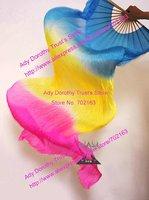 10pcs/lot free shipping custom made 3 colors dance fan veil/belly dance fan veil/silk fan veil/belly dance accessory