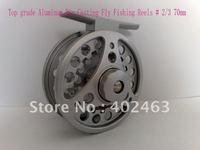 Top grade Aluminum Die Casting Fly Fishing Reels # 2/3  70mm  One-way bearing China Post Air Mail Ups Saver