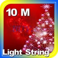 5 pcs Red 100 LED 10M Fairy Light String for Christmas Tree Wedding Party Holiday 220V Free Shipping!! #5 x DQ0195