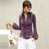 Free Shipping 2013 New Womens Shirt latest design ladies' long sleeve t-shirt Top 2 colors
