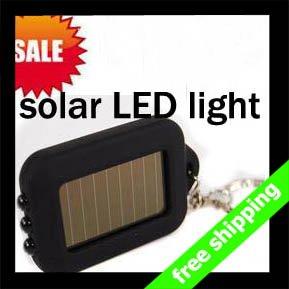 FREE SHIPPING Solar Light High Quality Flash Mini LED Keychain Car Personal Office Use Promotion Gift say hi 10pcs/lot HU 007(China (Mainland))