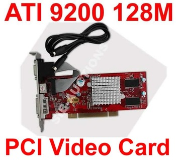 5pcs Free Shipping New NW 128MB 128 MB ATI Radeon 9200 PCI Video Graphics Card