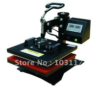 38*38CM shaking head heat transfer press machine for printing flat stuffs t-shirts