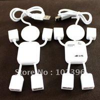 Wholesale - Free Shipping Cartoon gifts High Speed Little Human Shape 4 Port USB Hub