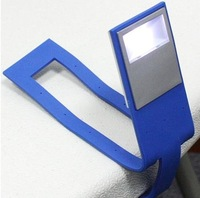 DHL Free shipping 100pcs/lot Tablet Book Light Clip-on Reading Lamp Flashlight Color ( Only Black Color )