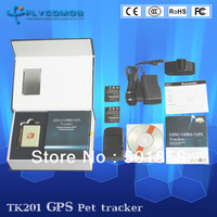 TK201 Pet GPS Tracker system with Neck Strap, Geofence, Tracking via SMS and web platform