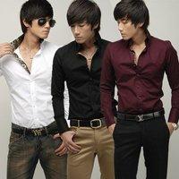 Free Shipping New Mens Shirt Casual Slim Fit Stylish Dress Shirts 6029