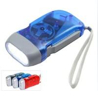 Free shipping+ 20pcs  Dynamo Flashlight  , hand pressing flashlight !