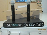 Free shipping LX88III LX88-III LX88 double Handheld Microphone Wireless System with Aluminum boxes