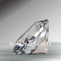 80mm  diamond Paperweight,K9 crystal+machine cut+free shipping