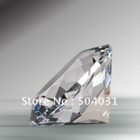 80mm  diamond Paperweight,K9 crystal+machine cut+free shipping