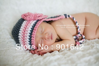 Crochet Hat Pattern Baby Crochet Hat Earflap Beanie with Triple Flower Newborn to Preteen Photo Photography Prop