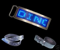 Free Shipping Fashionable Blue/ Red Color Digital Programmable LED Belt Buckle Adjustable Logos And Led Scroll Message Display