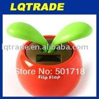 flip flap solar flower/10pcs/lot apple flower solar swinging flower novelty gift