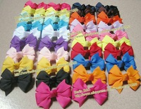 5/8'' grosgrain hair bow clips 2''x2'' mixed 15 colors christmas bows toddler hair accessories hair clip ponytail clip baby bows