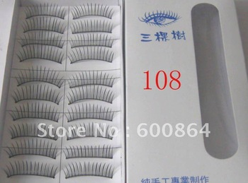 50pairs 108# Fashion Eyelashes eyelash extension False Eyelashes Fake Eyelashes artificial eyelash Hand made Eye lash
