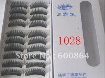 HOT 50pairs 1028# Fashion Eyelashes eyelash extension False Eyelashes Fake Eyelashes artificial eyelash Hand made Eye lash