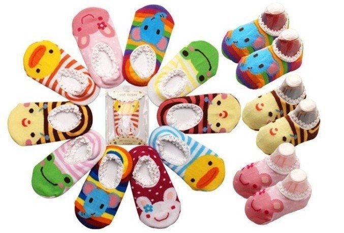 Frete Grátis 100pairs bonito ! Meias bebê Busha antiderrapantes - antiderrapante sapatos booties Sock criança do bebê Footgear bebê Sox(China (Mainland))