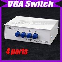 4 PORT SVGA VGA Manual Sharing Switch 1 Monitor to 4 PC V1333