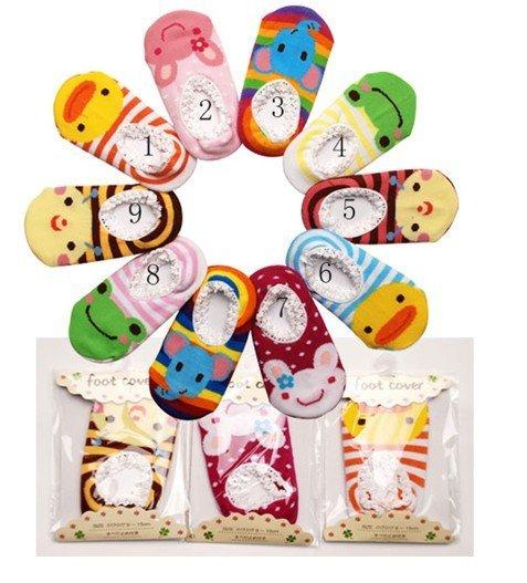 DHL / EMS frete grátis 500pairs Cute! Meias bebê Busha antiderrapantes - antiderrapante sapatos booties Sock criança do bebê Footgear bebê Sox(China (Mainland))